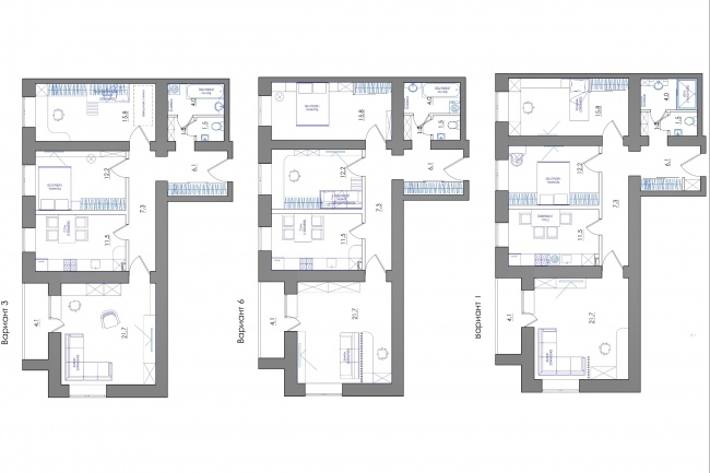 Планировка квартиры или жилого дома, перепланировка и визуализация 92 - kwork.ru