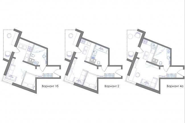 Планировка квартиры или жилого дома, перепланировка и визуализация 93 - kwork.ru