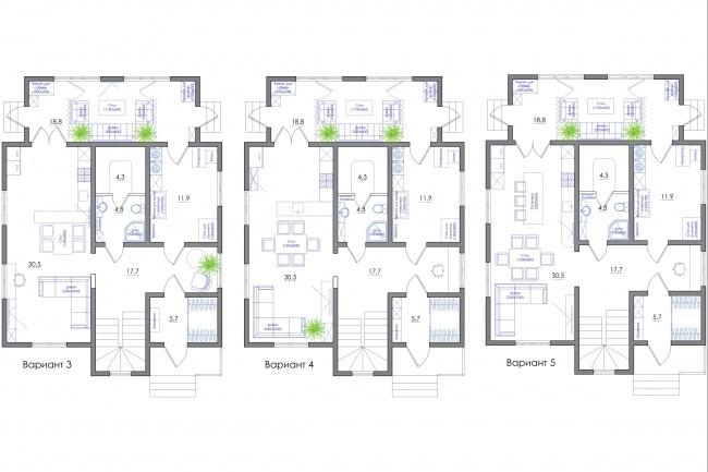 Планировка квартиры или жилого дома, перепланировка и визуализация 87 - kwork.ru