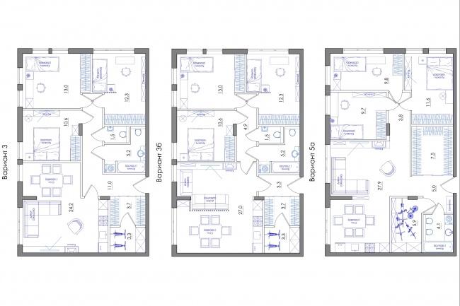 Планировка квартиры или жилого дома, перепланировка и визуализация 85 - kwork.ru