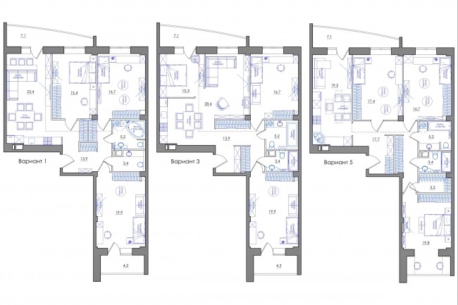 Планировка квартиры или жилого дома, перепланировка и визуализация 83 - kwork.ru