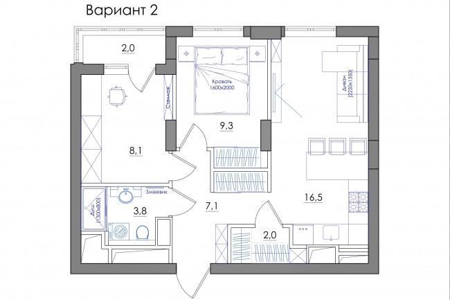 Планировка квартиры или жилого дома, перепланировка и визуализация 82 - kwork.ru