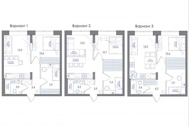 Планировка квартиры или жилого дома, перепланировка и визуализация 84 - kwork.ru