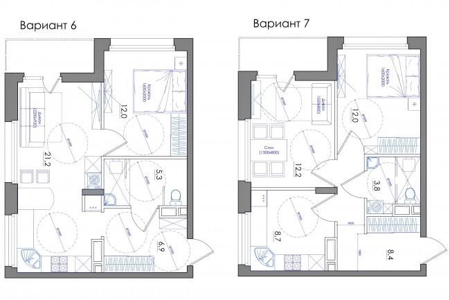 Планировка квартиры или жилого дома, перепланировка и визуализация 80 - kwork.ru