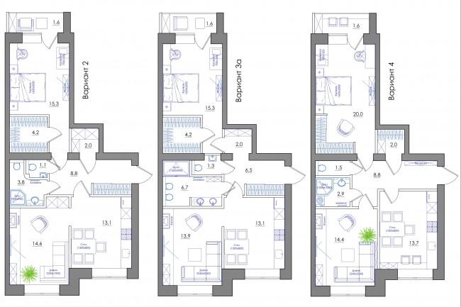 Планировка квартиры или жилого дома, перепланировка и визуализация 79 - kwork.ru