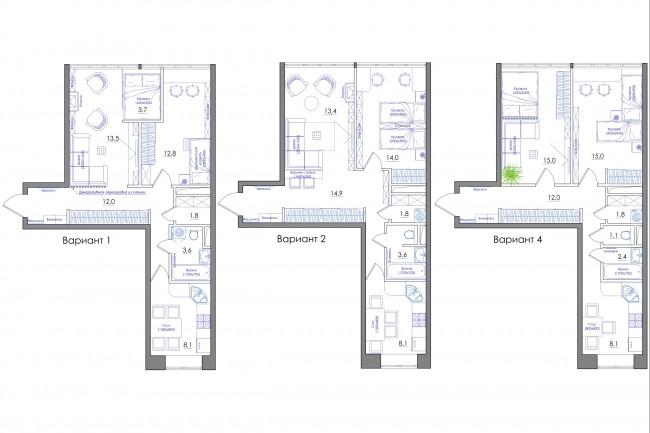 Планировка квартиры или жилого дома, перепланировка и визуализация 78 - kwork.ru