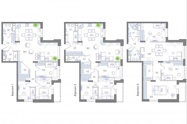 Планировка квартиры или жилого дома, перепланировка и визуализация 77 - kwork.ru