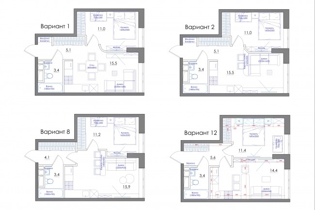 Планировка квартиры или жилого дома, перепланировка и визуализация 75 - kwork.ru