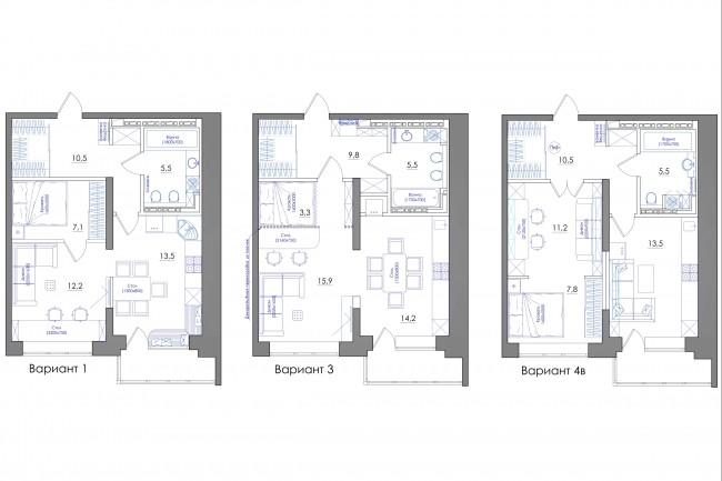 Планировка квартиры или жилого дома, перепланировка и визуализация 74 - kwork.ru