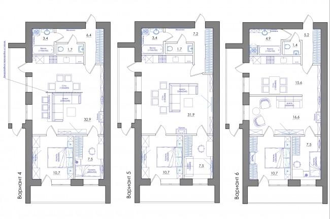 Планировка квартиры или жилого дома, перепланировка и визуализация 73 - kwork.ru