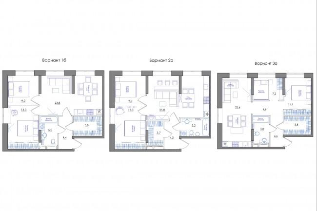 Планировка квартиры или жилого дома, перепланировка и визуализация 72 - kwork.ru
