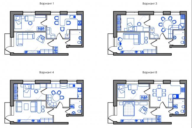 Планировка квартиры или жилого дома, перепланировка и визуализация 109 - kwork.ru