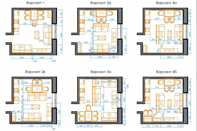 Планировка квартиры или жилого дома, перепланировка и визуализация 108 - kwork.ru