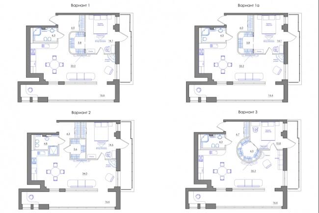 Планировка квартиры или жилого дома, перепланировка и визуализация 107 - kwork.ru
