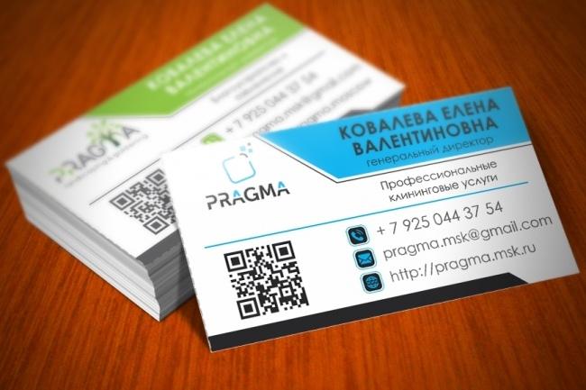 Разработаю красивый, уникальный дизайн визитки в современном стиле 99 - kwork.ru