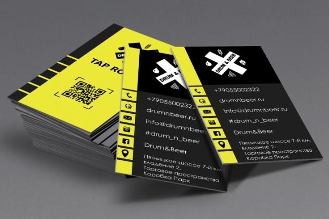 Разработаю красивый, уникальный дизайн визитки в современном стиле 93 - kwork.ru