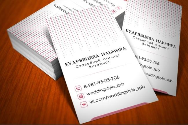 Разработаю красивый, уникальный дизайн визитки в современном стиле 88 - kwork.ru