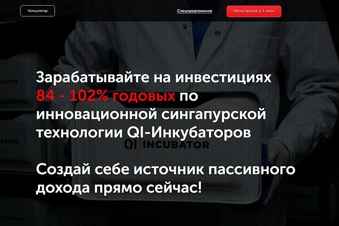 Скопирую Landing Page, Одностраничный сайт 65 - kwork.ru