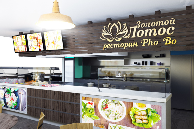 Интерьеры ресторанов, кафе 7 - kwork.ru