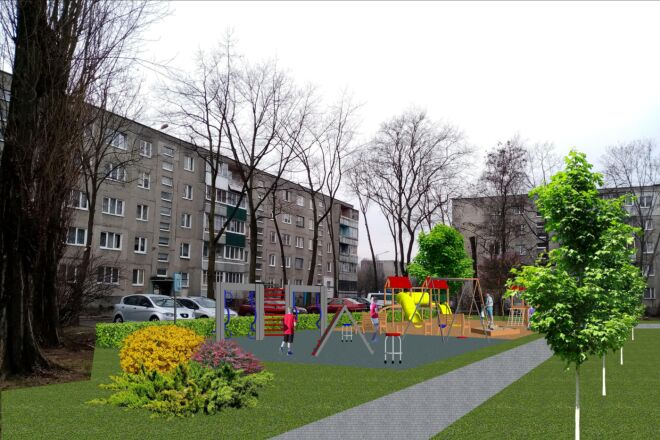 Визуализация благоустройства и озеленения территории, фото-эскиз 8 - kwork.ru