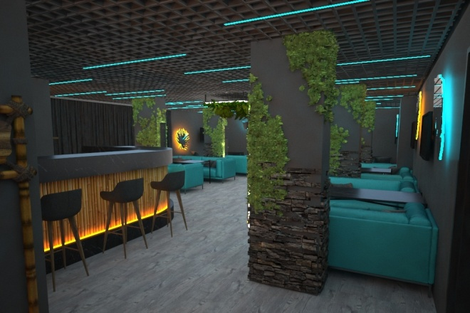 Визуализация торгового помещения, островка 43 - kwork.ru