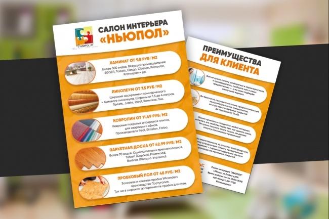 Листовка или флаер 2 варианта 53 - kwork.ru