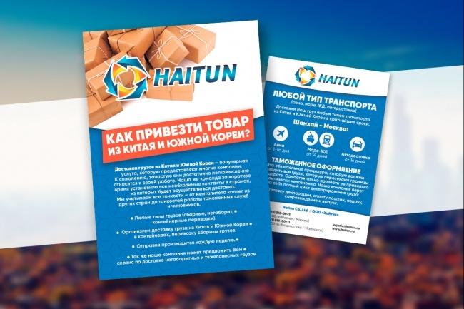 Листовка или флаер 2 варианта 40 - kwork.ru