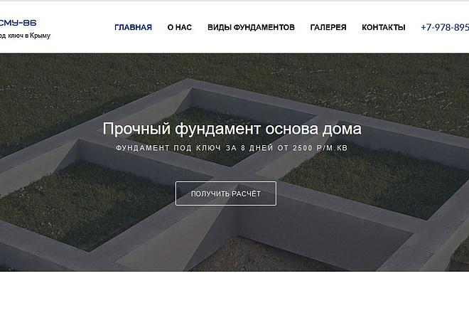 Создание сайта под ключ. CMS WordPress. Platforma LP 1 - kwork.ru