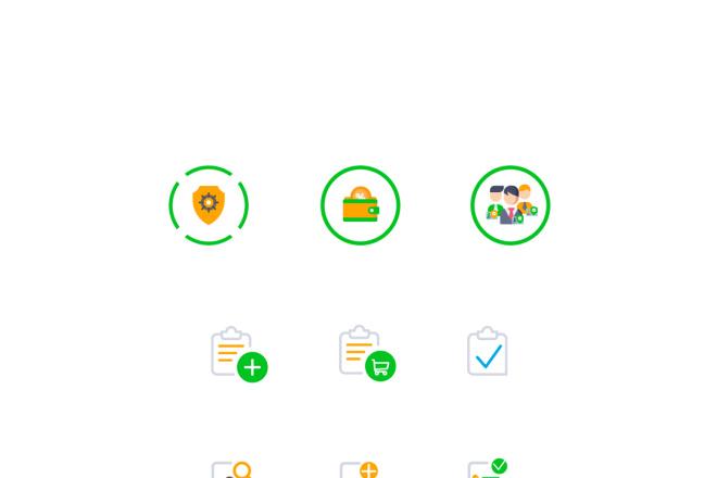Создам 5 иконок в любом стиле, для лендинга, сайта или приложения 5 - kwork.ru