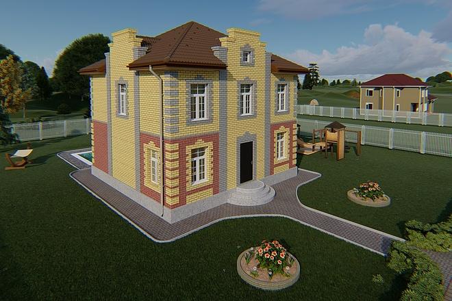 Фотореалистичная 3D визуализация экстерьера Вашего дома 163 - kwork.ru
