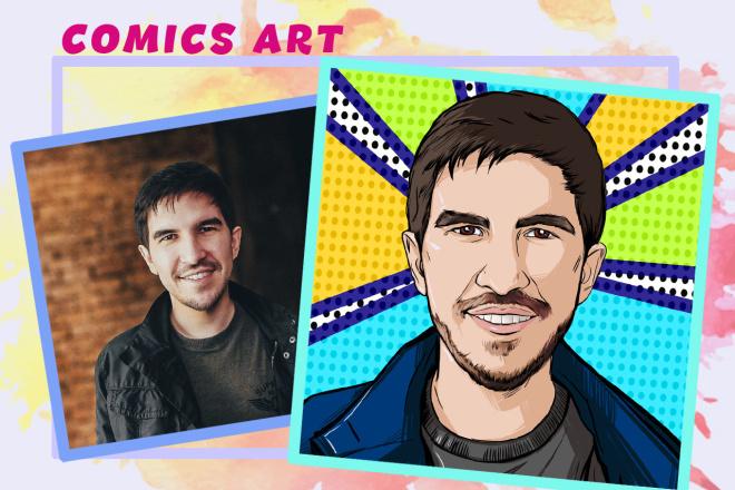 Нарисую портрет в стиле Pop Art,Comics Art, Stik Art 30 - kwork.ru