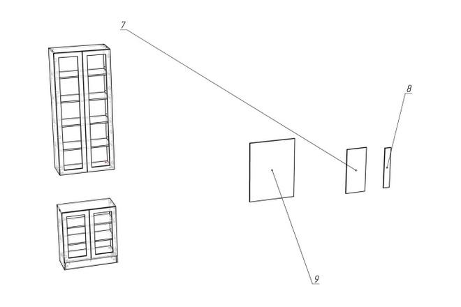 Проект корпусной мебели, кухни. Визуализация мебели 61 - kwork.ru