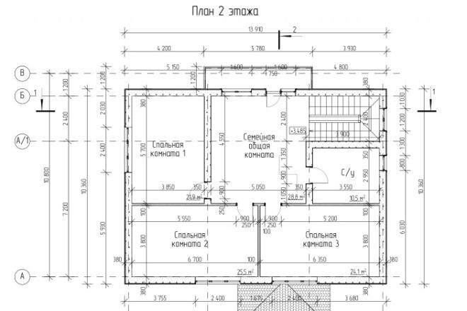 Проект коттеджа 1 - kwork.ru