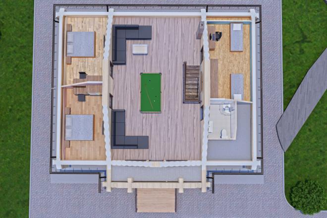 Фотореалистичная 3D визуализация экстерьера Вашего дома 94 - kwork.ru