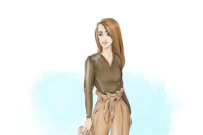 Создам fashion иллюстрацию 4 - kwork.ru