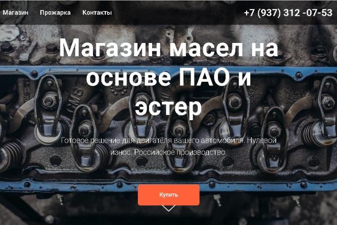 Создам продающий landing page под ключ на конструкторе Tilda 1 - kwork.ru