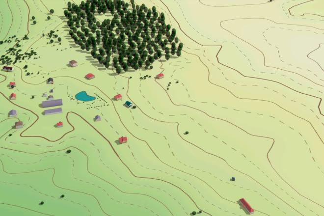 Выполню трехмерную модель местности 10 - kwork.ru