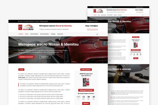 Адаптивный лендинг с индивидуальным дизайном на WordPress 30 - kwork.ru
