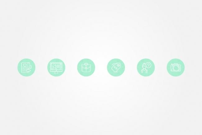 Создам 5 иконок в любом стиле, для лендинга, сайта или приложения 95 - kwork.ru