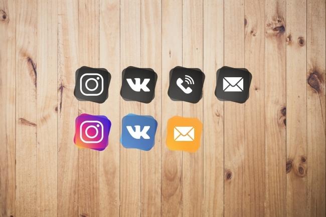 Создам 5 иконок в любом стиле, для лендинга, сайта или приложения 86 - kwork.ru