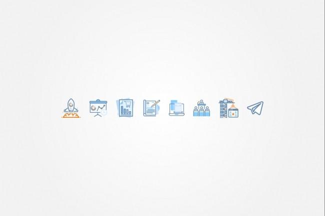 Создам 5 иконок в любом стиле, для лендинга, сайта или приложения 73 - kwork.ru