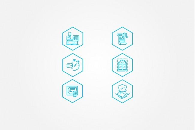 Создам 5 иконок в любом стиле, для лендинга, сайта или приложения 72 - kwork.ru