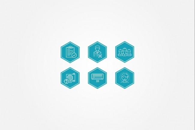 Создам 5 иконок в любом стиле, для лендинга, сайта или приложения 68 - kwork.ru