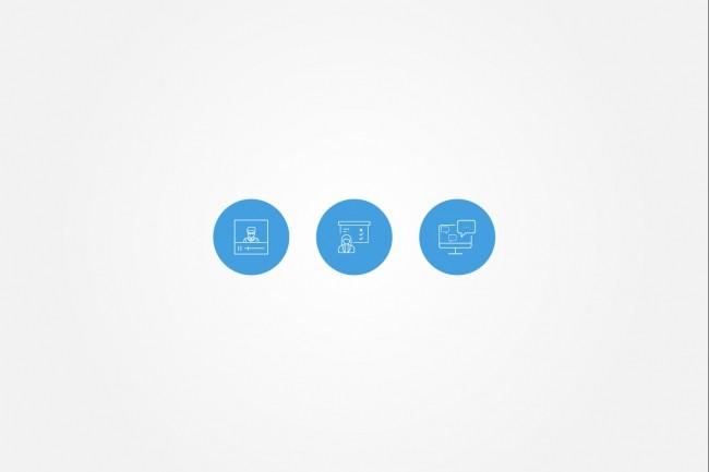 Создам 5 иконок в любом стиле, для лендинга, сайта или приложения 63 - kwork.ru