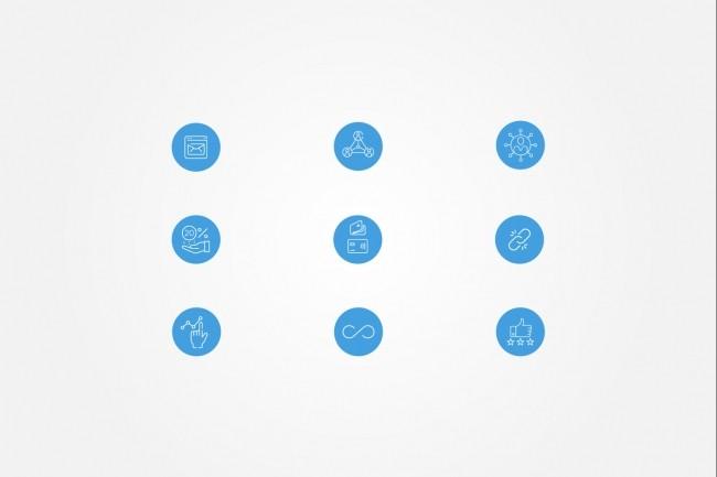 Создам 5 иконок в любом стиле, для лендинга, сайта или приложения 60 - kwork.ru