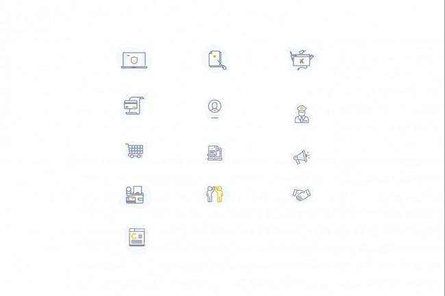 Создам 5 иконок в любом стиле, для лендинга, сайта или приложения 59 - kwork.ru