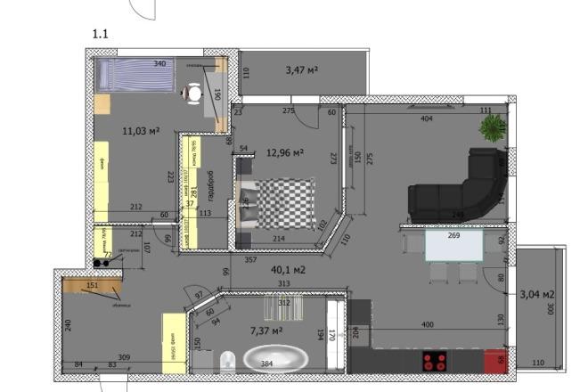 Интересные планировки квартир 43 - kwork.ru