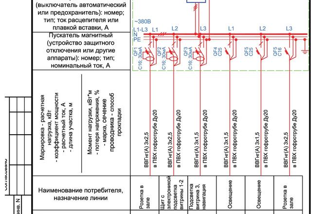 Выполню однолинейную схему электроснабжения 45 - kwork.ru