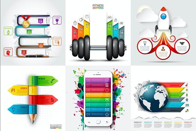 Набор инфографики. 13 тематик, 800 шаблонов, 2 пакета иконок 4 - kwork.ru