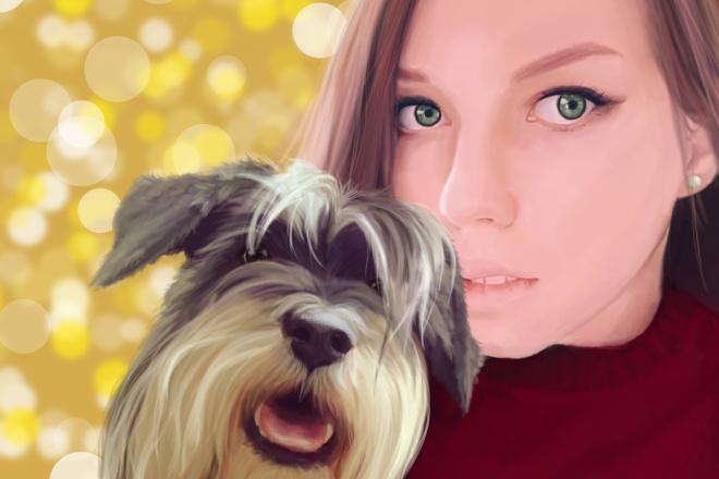 Рисую цифровые портреты по фото 6 - kwork.ru